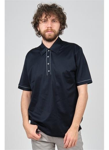 Arslanlı Arslanlı Erkek Şerit Detaylı Polo Yaka T-Shirt  Lacivert